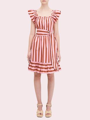 Kate Spade Calais Stripe Flutter Dress