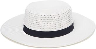 Halogen Grosgrain Trimmed Boater Hat