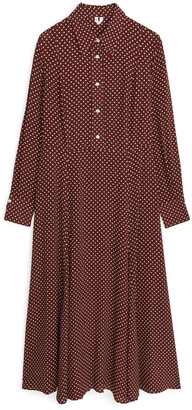Arket Patterned Crepe Dress