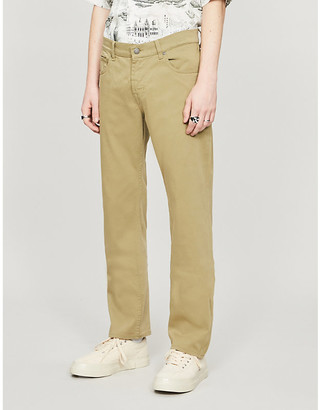 7 For All Mankind Slimmy Luxe Sateen slim-fit cotton trousers
