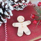 Ginger Pickle Wooden Gingerbread Man Brooch