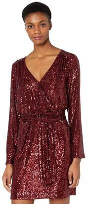 Trina Turk Brighten Dress (Garnet) Women's Dress