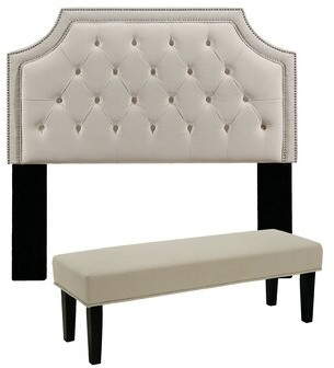 Darby Home Co Devitt Upholstered Panel Headboard Size: Full/Queen, Color: Beige