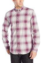 Calvin Klein Jeans Men's Open Ombre Check Button Down Shirt