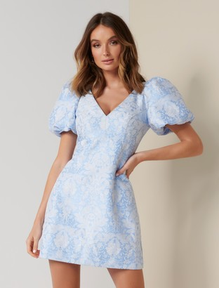 Ever New Emilia Puff-Sleeve Mini Dress