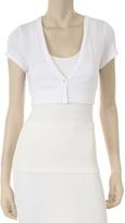 White Button-Up Shrug - Women