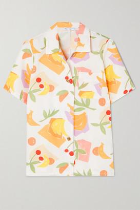 REJINA PYO Mila Printed Cotton-blend Shirt - Ivory