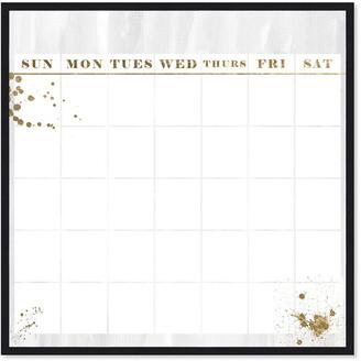 Oliver Gal Dry Erase Board Calendar In Gold