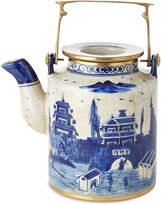 One Kings Lane Small Great Wall Teapot, Blue/White