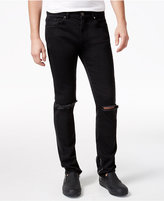 Reason Men's Unisex Knee Slit Slim-Fit Jeans