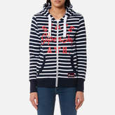 Superdry Women's State Ath Stripe Zip Hoody