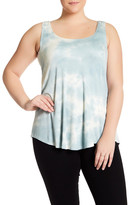 Hip Ribbed Tie Dye Tank (Plus Size)