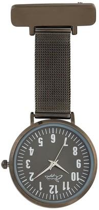 Bermuda Watch Company Annie Apple Silver/Gunmetal Nurse Fob Watch
