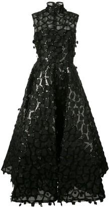 Christian Siriano Floral Applique Dress