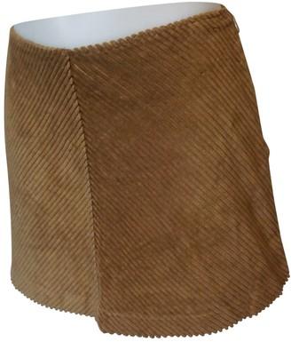 Pinko Brown Cotton Skirt for Women