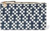 Clare Vivier Printed Linen-Canvas Clutch