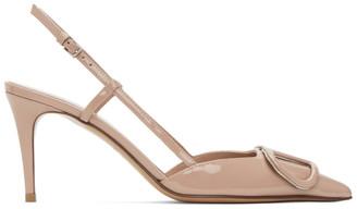 Valentino Pink Garavani VLogo Slingback Heels