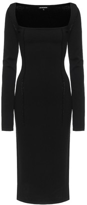 Ann Demeulemeester Merino wool-blend midi dress