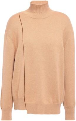 Agnona Asymmetric Cashmere Turtleneck Sweater