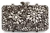 Glint Crystal Floral Minaudiere - Metallic