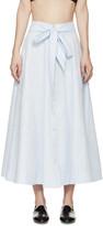 Lisa Marie Fernandez Blue Patchwork Beach Skirt