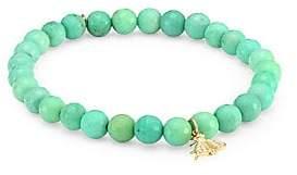 Sydney Evan Women's Diamond, Ruby, Green Opal and 14K Gold Fly Charm Beaded Bracelet