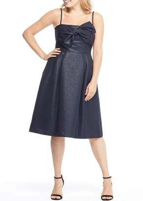 Gal Meets Glam Lucille Starry Night Fit & Flare Dress (Regular & Plus Size)