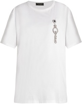 Burberry Crystal-embellished cotton-jersey T-shirt