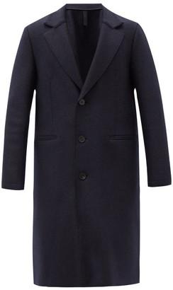 Harris Wharf London Pressed-wool Single-breasted Overcoat - Navy