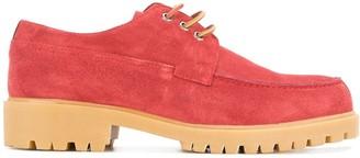 Cerruti ridged sole boat shoes