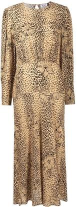Rixo Greta leopard-print dress