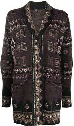 Etro Embroidered Design Cardigan