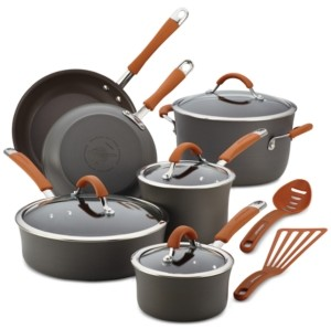 Rachael Ray Cucina 12-Pc. Hard-Anodized Aluminum Non-Stick Cookware Set