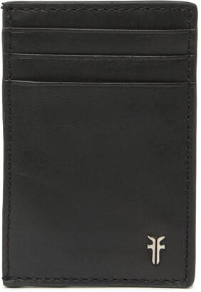 Frye Metal Logo Leather Card Case