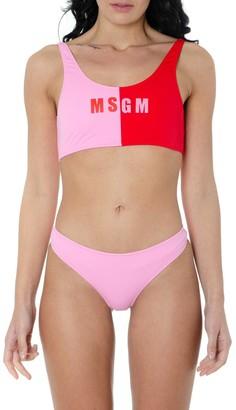 MSGM Two Pieces Pink Swimwear