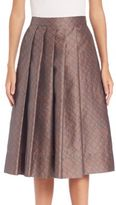 Pauw Pleated Geo-Print Skirt