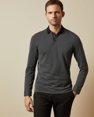 Ted Baker Long Sleeved Striped Polo