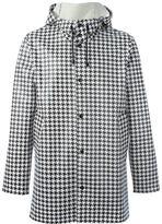 Stutterheim all over dogtooth print coat - unisex - Cotton/Polyester/PVC - XXS