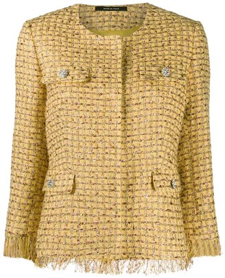 Tagliatore three-quarter length tweed jacket