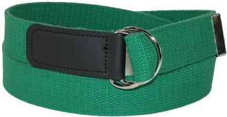 CTM Cotton Web Belt with Double D Ring Buckle