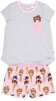 Peter Alexander peteralexander Girls Kitty Ice Cream Pj Set