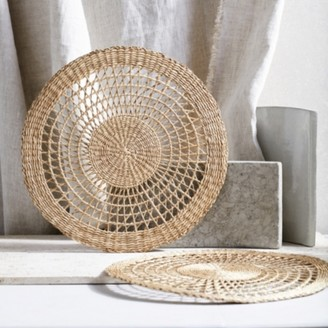The White Company Seagrass Woven Placemat - Set of 2, Natural, One Size