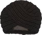 The Elder Statesman Women's Knit Turban-BLACK