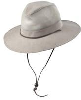 Dorfman Pacific Men's Brushed Twill Safari Hat - Brown