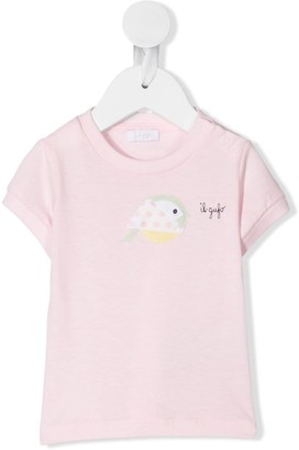 Il Gufo applique bird T-shirt