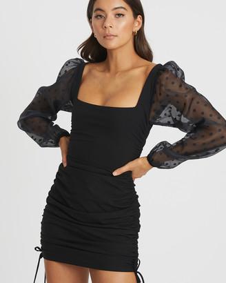 BWLDR - Women's Black Mini Dresses - Lottie Mini Dress - Size One Size, 6 at The Iconic