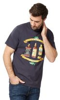 Weird Fish Big And Tall Navy 'that's The Spirit' Print T-shirt