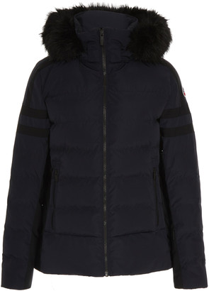 Fusalp Hooded Fur-Trimmed Shell Puffer Coat