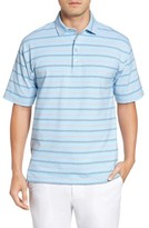 Bobby Jones Men's Liquid Cotton Stripe Jersey Golf Polo