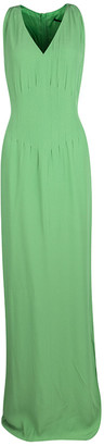 Boss By Hugo Boss Green Sleeveless V-Neck Dallisia Dress M